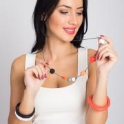 Colier Alaptare din silicon fara BPA Lebebe  – 42